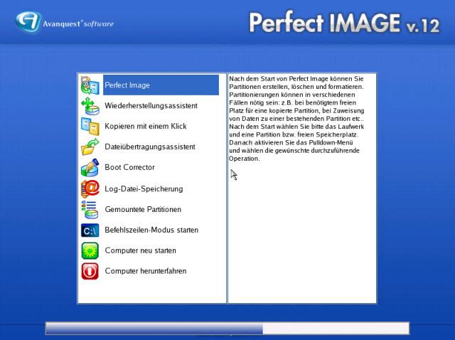 Das zentrale Inferface bietet direkten Zugriff auf alle Funktionen