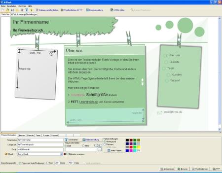 EigeneFlash-Websiteoder Multimedia-Präsentation - mit wenigen Klicks