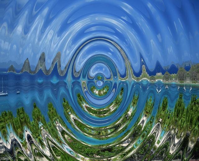 Kräuseln: Dieser Effekt wirkt so ähnlich wie Banded Swirl, aus dem Mittelpunkt dringen aber kreisförmige Kräuselwellen hervor.