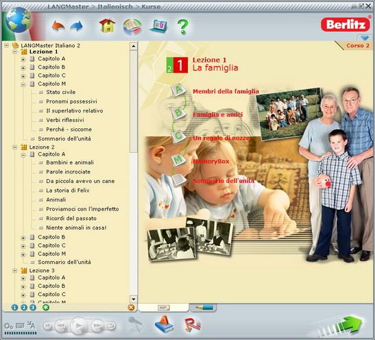 Jede Lektion ist noch einmal in Unterkapitel eingeteilt, und zum Abschluss finden Sie eine Zusammenfassung der jeweiligen Lektion. Im linken Bereich des Bildschirms sehen Sie die Kapitelübersicht.