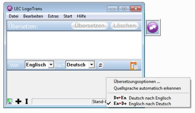 Der komfortable Deutsch - Englisch Übersetzer für den Desktop