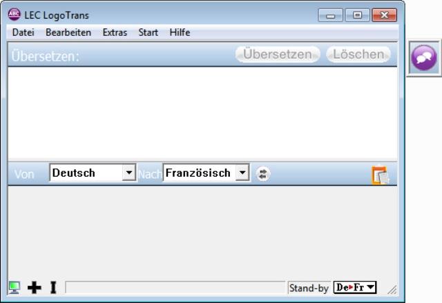 Der komfortable Deutsch - Französisch Übersetzer für den Desktop