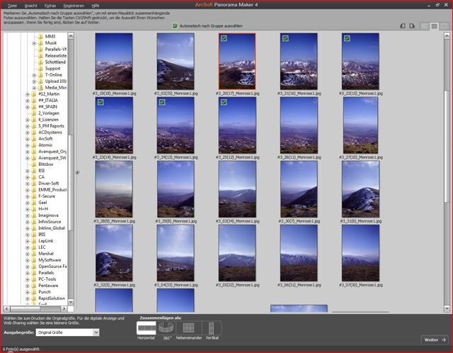 Fotos einfach zu atemberaubenden Panoramen zusammenfügen