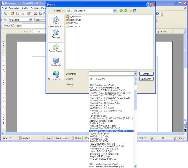 Formatprobleme gehören der Vergangenheit an, StarOffice 9 kann mit nahezu allen Dateiformaten umgehen.