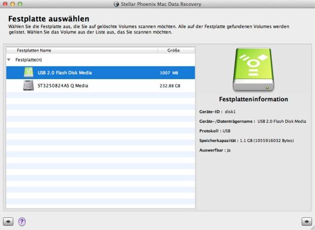 Retten Sie gelöschte und beschädigte Daten auf demMac™