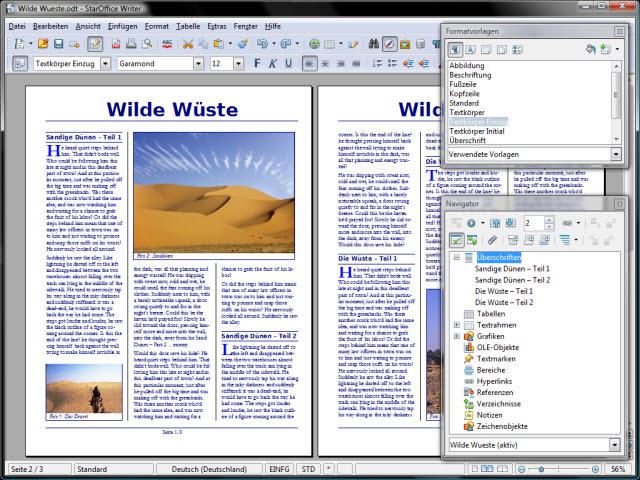 Vom schnellen Brief bis zur Hochglanzbroschüre, StarOffice macht alles mit. Außerdem ist der Export in das archivierungsfreundliche Format PDF/A-1 möglich.