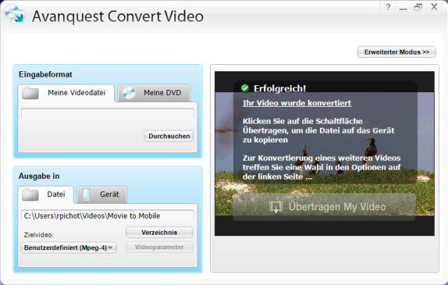 Der&nbsp;Video-Converter - zum Rippen &amp; Umwandeln f&uuml;r iPod<sup>&reg;</sup>, iPhone<sup>&reg;</sup>, PSP<sup>&reg;</sup>