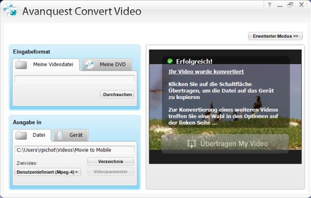 avanquest video converter videos konvertieren. Black Bedroom Furniture Sets. Home Design Ideas