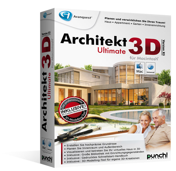 Architekt 3D X5 Ultimate für Mac