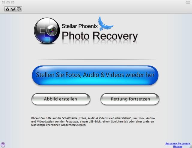Retten Sie gelöschte &beschädigte Fotos