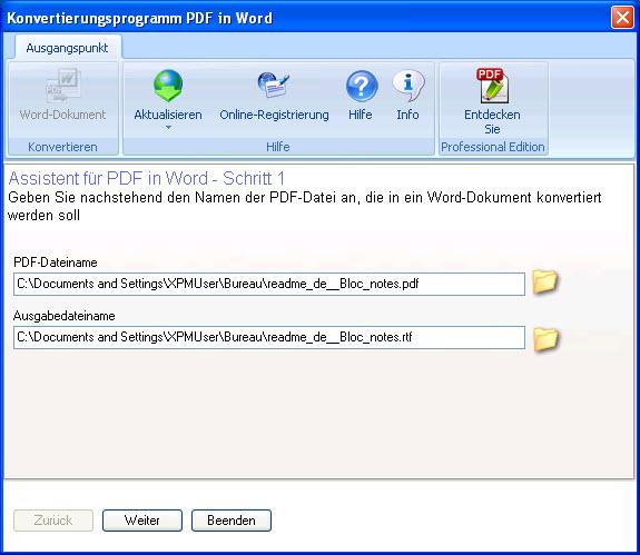 Einfaches Umwandeln von PDF in Word<sup>&reg;</sup> </br>Jetzt auch kompatibel mit Windows 8!