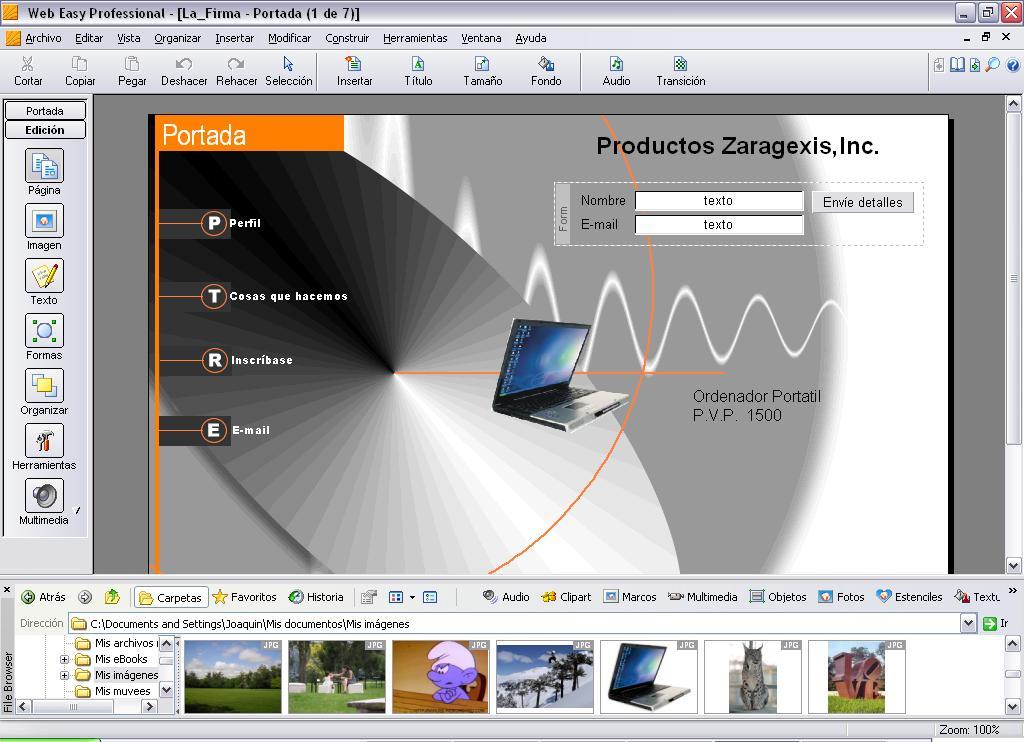 WebEasy 7 - El programa más fácil y completo para la creación de ...
