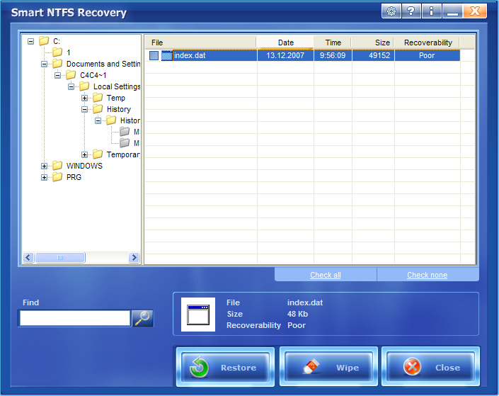 Recupera cualquier archivo NTFSeliminado ¡aun cuando la tabla de partición está perdida!