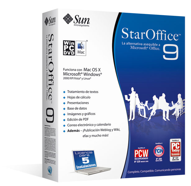 Sun StarOffice 9 para Mac, Windows y Linux