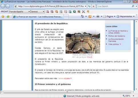 Una página web traducida (2/2)