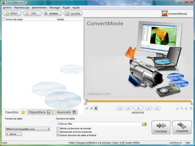 ¡Convierte tus vídeos, copia DVDs y exporta el audio!