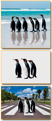 Pinguine-serie-cut out