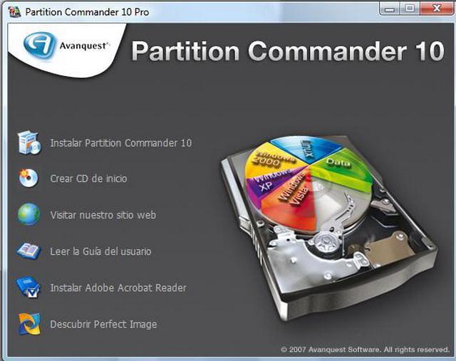 Realiza particiones de tus discos con total simplicidad. Organiza,  Protege y Restaura.