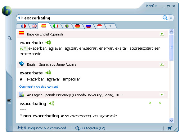 ¡Diccionario y software de traducción personal!