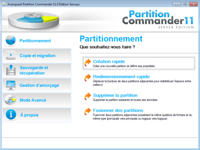 La solution professionnelle de partition de disque dur