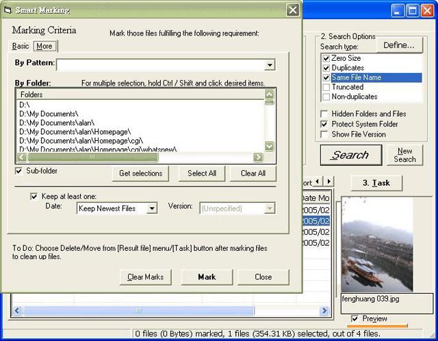 Sélectionnez automatiquement les fichiers par critères de date, de version, de taille, de répertoire, de modèle de nom.