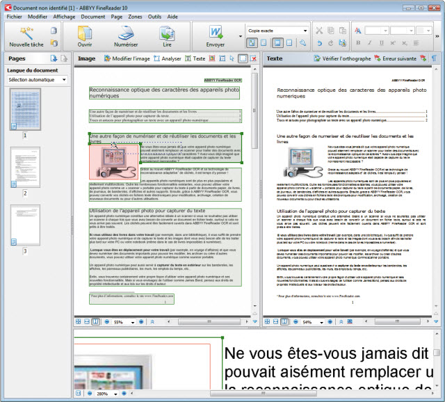 La référence de la conversion de documents et images