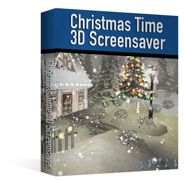 Ecran de veille 3D - Saison de Noël