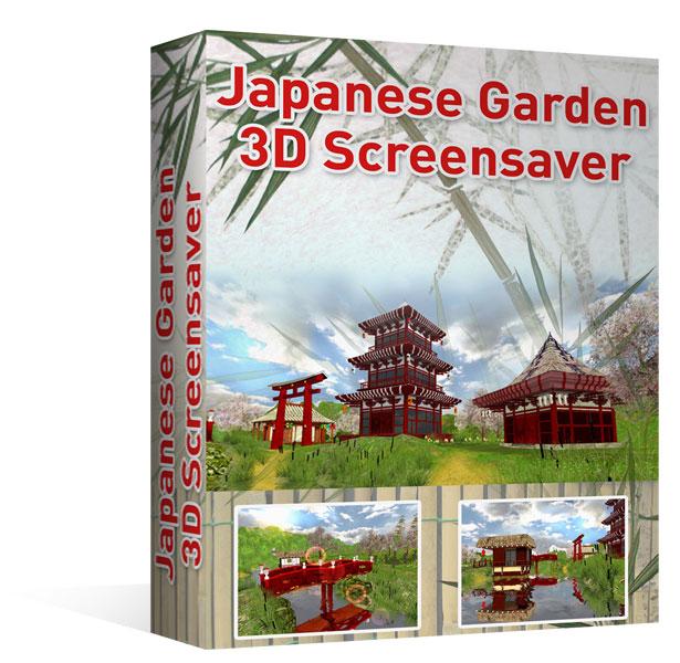 Ecran de veille 3D- Jardin Japonais