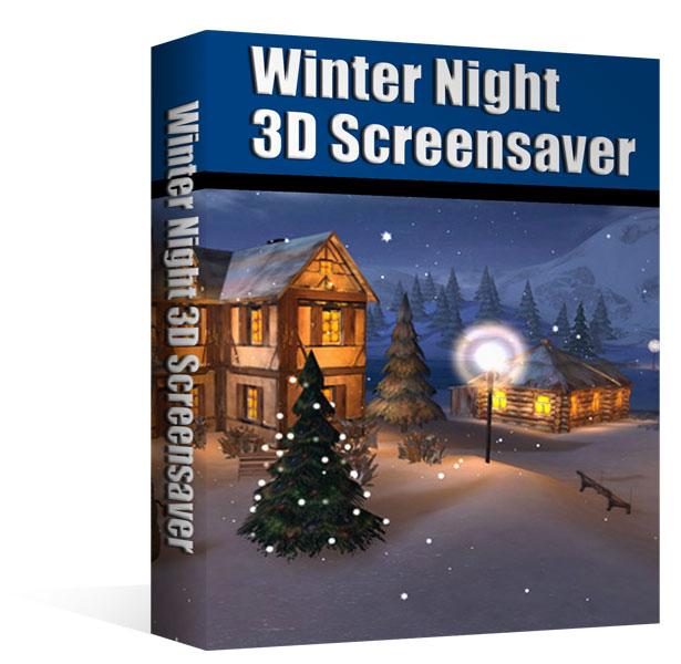Ecran de veille 3D - Une nuit d'hiver