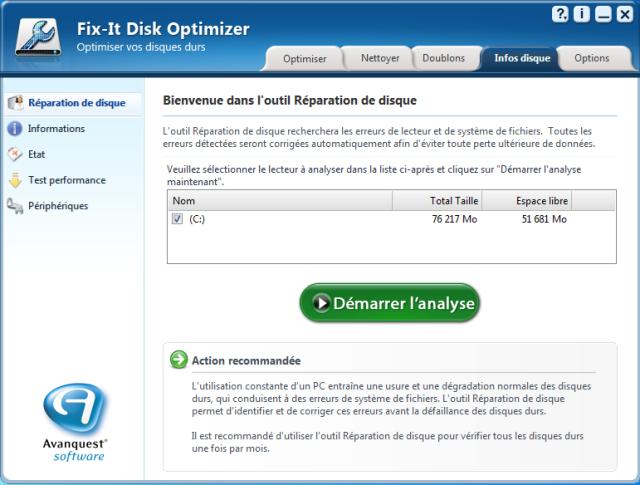 Réparez votre base de registre et supprimez les fragments de votre disquepour optimiser la fiabilité et la rapidité de votre PC !