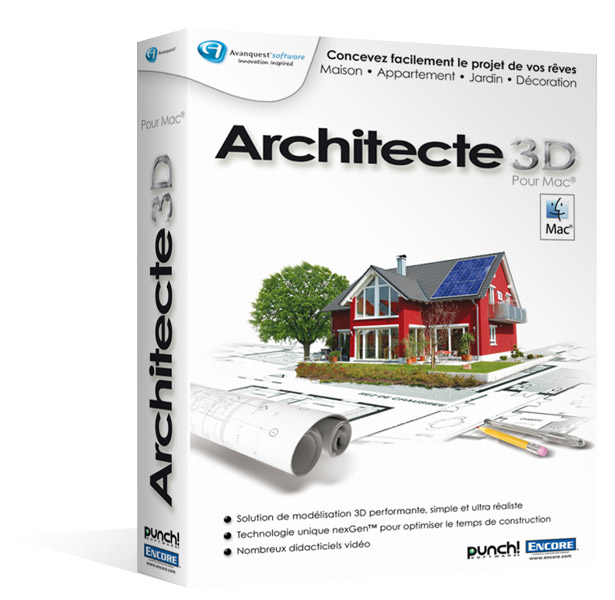 architecte 3d macintosh le logiciel de cr ation de vos. Black Bedroom Furniture Sets. Home Design Ideas