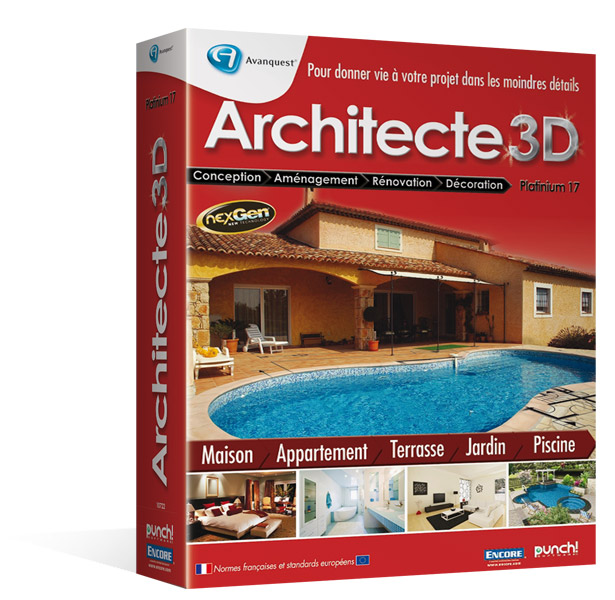 architecte 3d platinium 2013 le logiciel ultime d. Black Bedroom Furniture Sets. Home Design Ideas