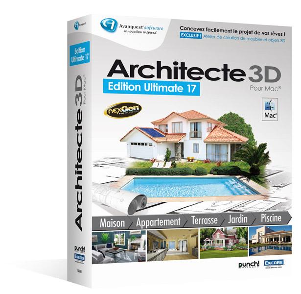 Architecte 3D pour Macintosh® - Ultimate Edition 2013 (V17) Mise à jour