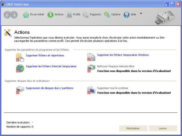 Pour une suppressioncomplète des fichiers, dossiers et partitions !