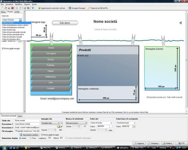 Lo strumento per creare siti Web Flash e presentazioni multimediali - 33 modelli