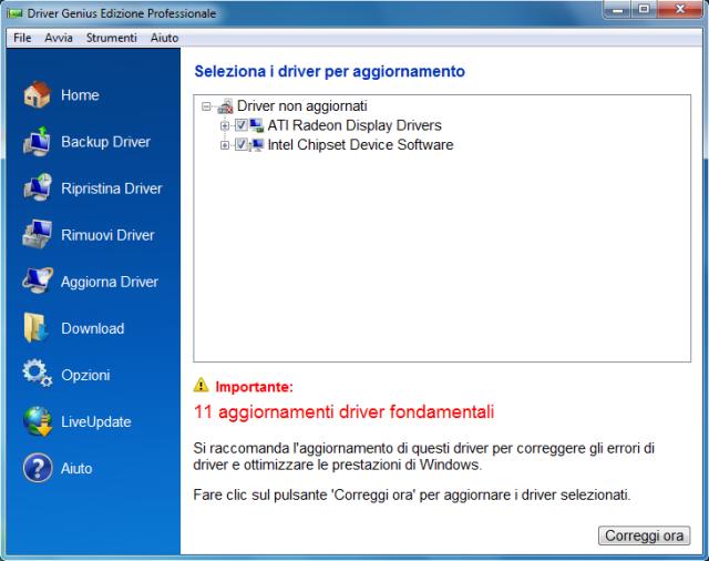Aggiorna i tuoi driver con continuità, per migliorare le prestazioni del PC!