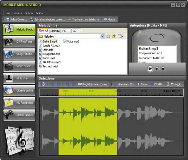 Crea suonerie, video e sfondi per il tuo cellulare