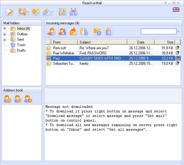 Reach-a-Mail Pro è un client portatile su USB realizzato per persone attive e mobili!