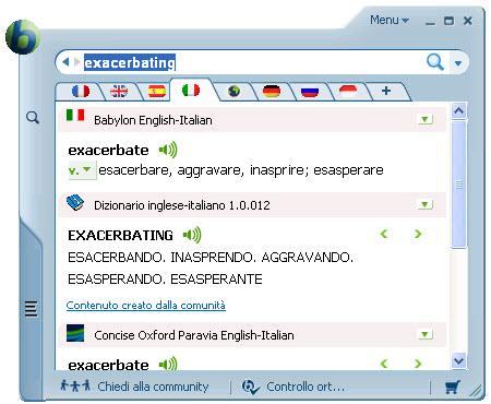 Il dizionario e traduttore software leader nel mondo!