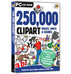 250,000 ClipArt Images, Fonts & Sounds
