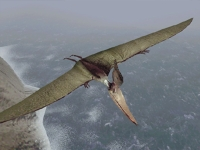 Take a spectacular clifftop flight with a Pteranodon