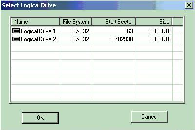 Select the logical drive you wish to recover data from.