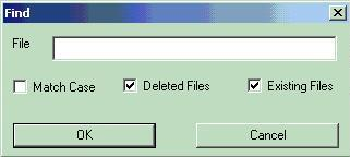 Look for files very easily thanks to find option.
