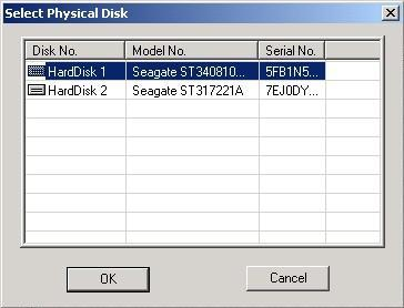 Select the physical drive you wish to recover files from.