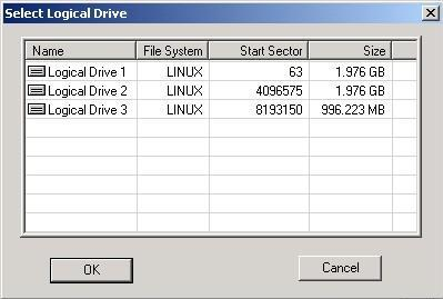 Select the logical drive you wish to recover files from.