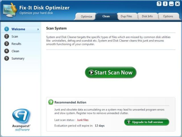 Fix-it Disk Optimizer Screenshot