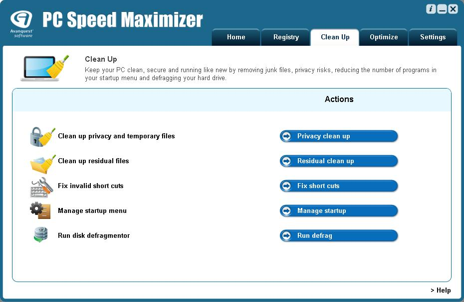 PC Speed Maximizer Screenshot