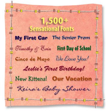 1500+ Fonts