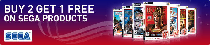 3 for 2 on Sega products
