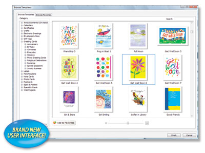 Personalise and send the very best greeting cards with just one software product